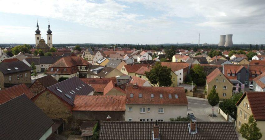 Grafenrheinfeld von oben